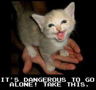 Dangerous! Take this!